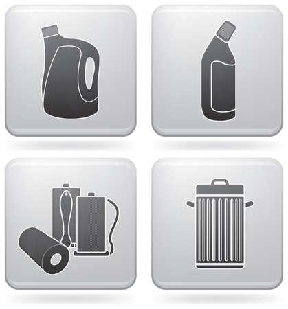 lejia: Conjunto de iconos de tema limpieza  Vectores