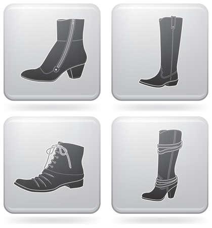 Winter footwear Vector