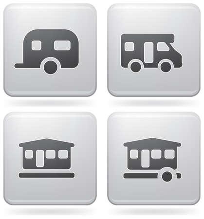 caravan: Various camping icons