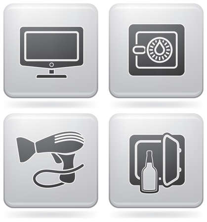 minibar: Various hotel icons