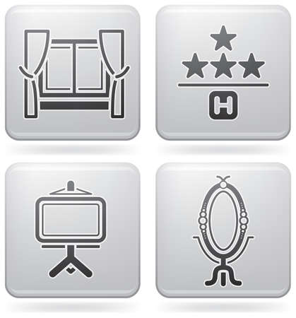 hotel rooms: Various hotel icons