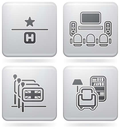 Various hotel icons Stock Vector - 7570865