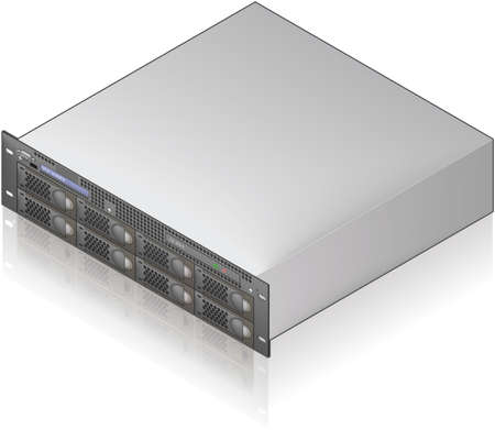 Single Server Unit Isometric 3D Icon (part of the Computer Hardware Icons Set)
