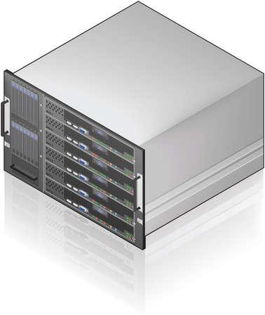 Single Server Unit Isometric 3D Icon Illustration