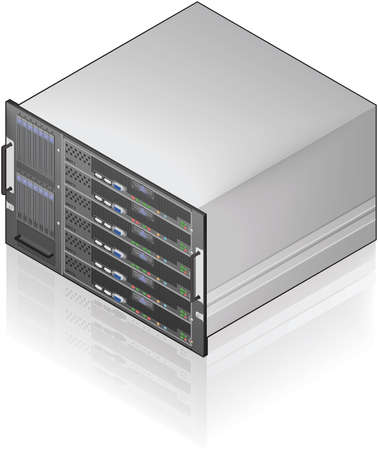 hardware icon: Single Server Unit Isometric 3D Icon Illustration