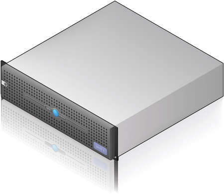Low Profile Single Server Unit Isometric 3D Icon (part of the Computer Hardware Icons Set) Vector