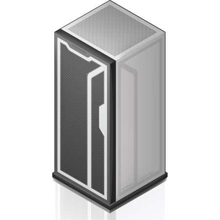 server network: Network Server Rack Isometric 3D Icon