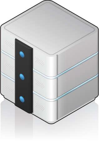 server: Futuristico medie dimensioni singolo Server Rack 3D isometrico icona