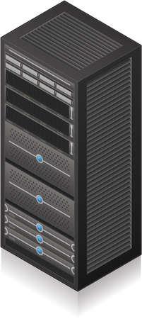 server: Singola icona Server Rack 3D isometrico