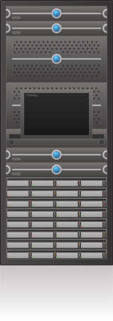 rack server: Single Server Rack 2D Icon