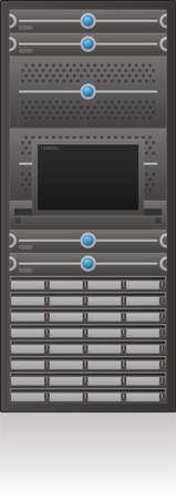 server rack: Single Server Rack 2D Icon