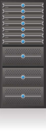 web server: Single Server Rack 2D Icon