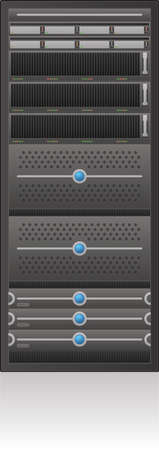 Single Server Rack 2D Icon