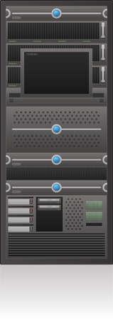 Single Server Rack 2D Icon Vector