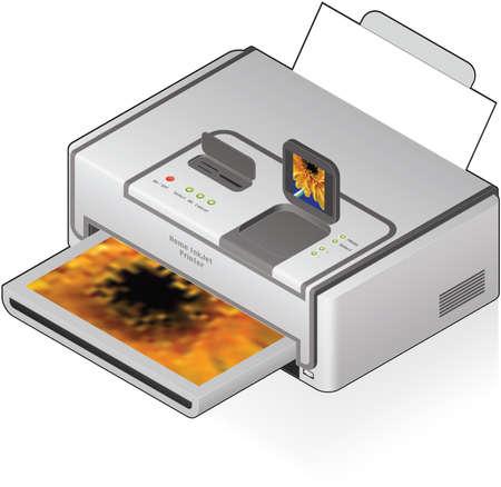inkjet: Medio casa Impresora fotogr�fica de inyecci�n de tinta en Color
