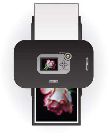 Color Photo InkJet Printer Top View Stock Vector - 9055230