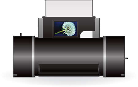 Medium Home InkJet Printer Front View Vector