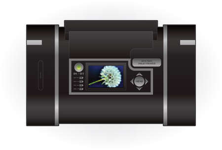 Medium Home InkJet Printer Top View Vector