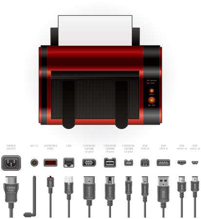 Color LaserJet Printer Top View Stock Vector - 9196049