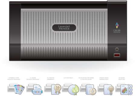 icc: Color LaserJet Printers   Options Icons Set