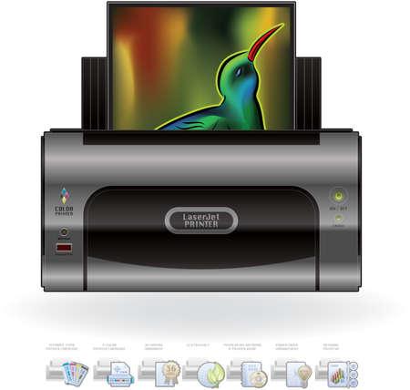 computer peripheral: Medium Home Color Photo LaserJet Printer