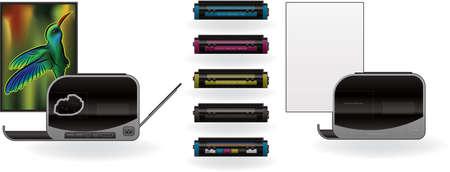 Medium Home Color Photo LaserJet Printer Vector