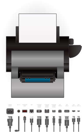 computer peripheral: Color Photo LaserJet Printer Illustration