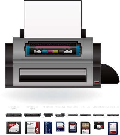Color Photo LaserJet Printer Stock Vector - 9357190