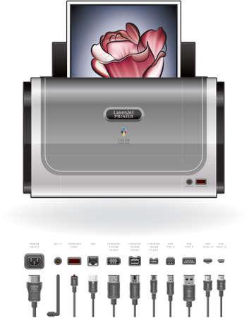 Home Color Photo LaserJet Printer Stock Vector - 9467679