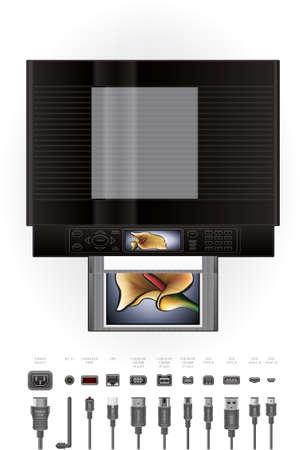 Office Color InkJet Printer/Photocopier Stock Vector - 9550012