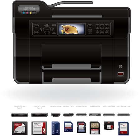 cf: Ufficio colore InkJet Printerfotocopiatrice Vettoriali