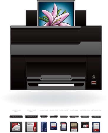 Office Photo InkJet PrinterPhotocopier Vector