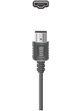 computer socket: USB Mini-A Plug and Socket  (part of the Computer Hardware Icons Set)