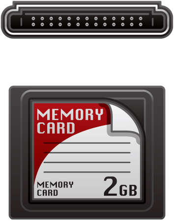 flash memory: Compact Flash Memory Card  (part of the Computer Hardware Icons Set)