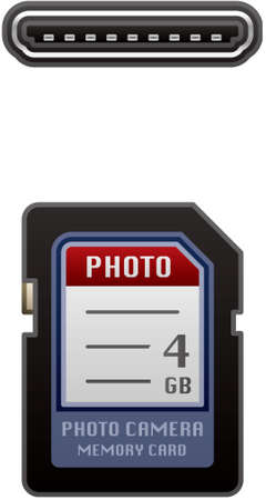 digital memory: Secure Digital Memory Card  (part of the Computer Hardware Icons Set)