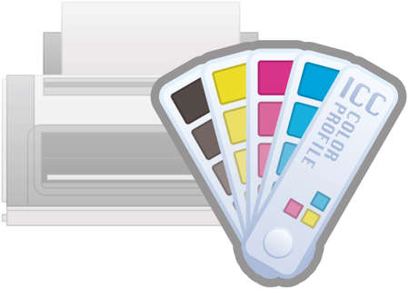 icc: ICC Color Profile Printer Icon (part of the Computer Hardware Icons Set)