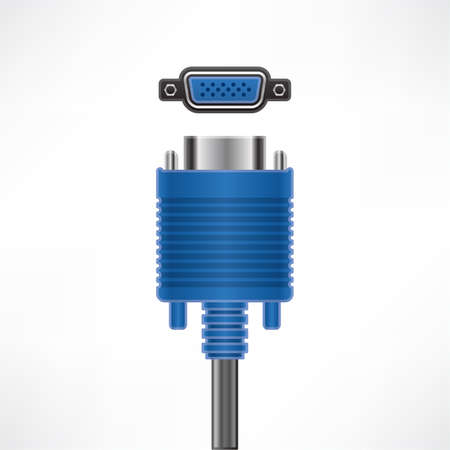 vga: Socket y la conexión de la pantalla VGA Vectores
