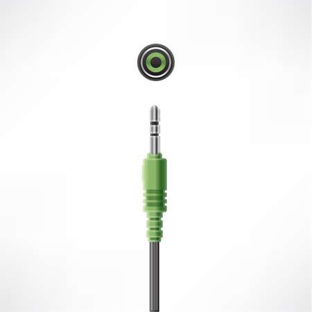 minijack: Headphones Mini-jack plug and socket
