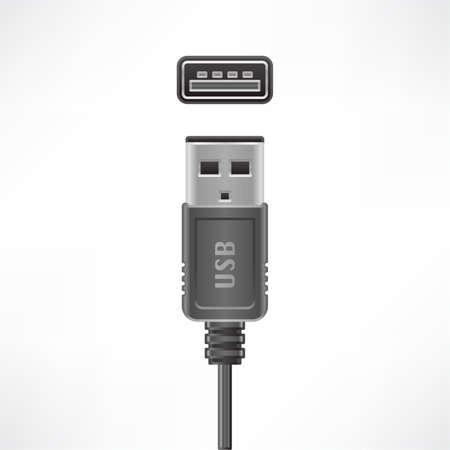 USB type A plug and socket Vector