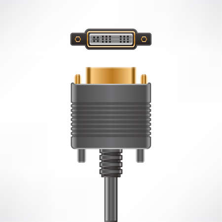 dvi: DVI-I Single Link plug and socket