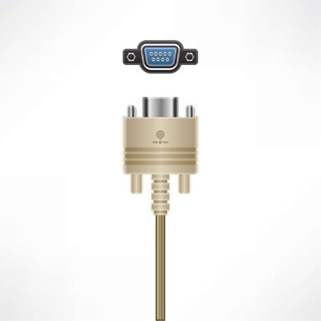 Serial Port (Dial-up Modem) Stock Vector - 10065709