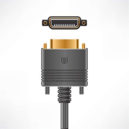flat panel: DFP (Digital Flat Panel) plug plug and socket