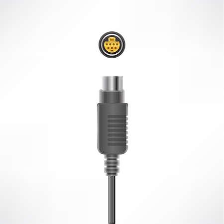 computer socket: S-Video In plug & socket Illustration