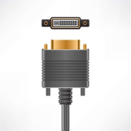 dvi: DVI-D Dual Link plug & socket