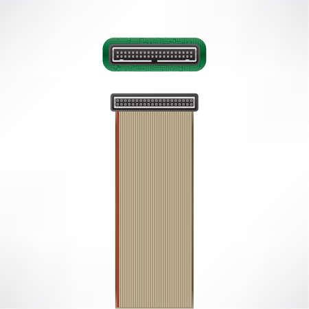 ide: IDE (PATA) 40 pin Internal plug & socket Illustration