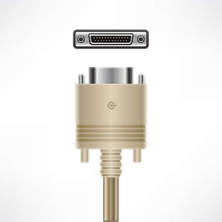 db: SCSI DB 25-Pin plug socket