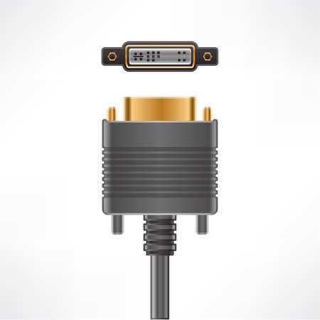 dvi: DVI-A Video plug socket Illustration