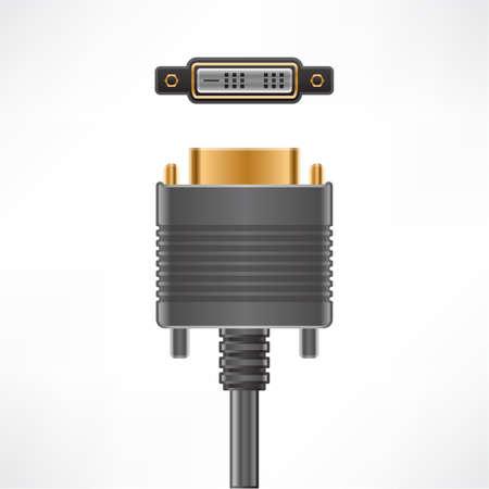 dvi: DVI-D Single Link plug socket