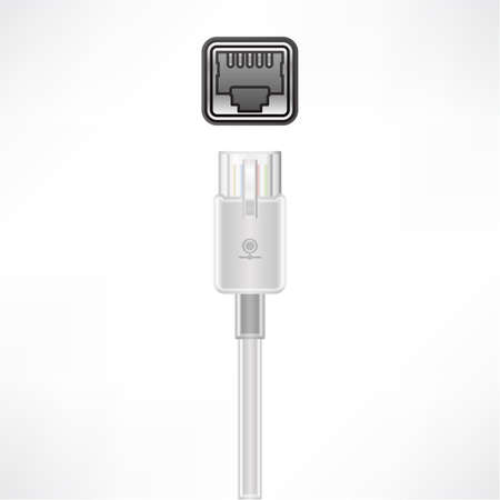 lan: LAN plug socket Illustration