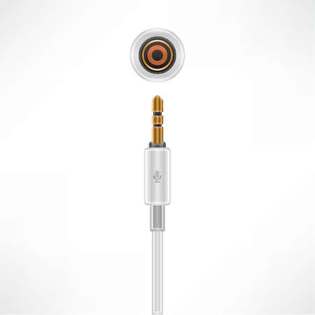 minijack: Microphone MiniJack plug & socket Illustration